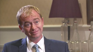 Tim Farron: 'A vast space' has opened up in politics.