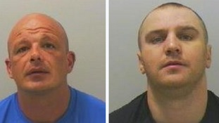 Mugshots of Paul Oliver and Thomas Bailey