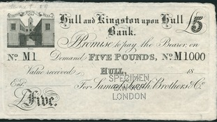 This historic £5 note is expected to sell for more than £200 at auction
