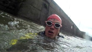 Kevin Brady is attempting to swim the entire length of the River Severn