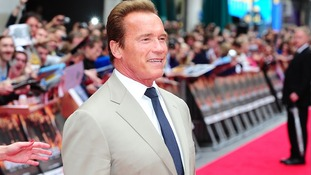 Arnold Schwarzenegger arriving for the UK Premiere of The Expendables 2, at the Empire Cinema, Leicester Square