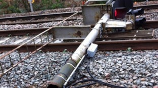 Rail crash caused by corroded signal post