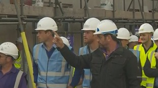 William and Harry get a tour of the site