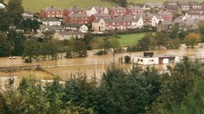 Flooding in Hawick in 2002