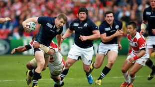 Scotland on the attack against Japan