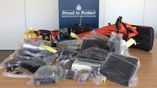 Items seized during operation
