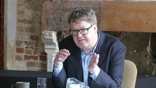 James Runcie speaking at the Norwich Crime Writing Festival last week.