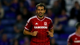 Middlesbrough's Christian Stuani during the Capital One Cup