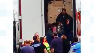 Children among suspected illegal immigrants found in lorry at Warwickshire service station