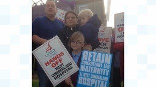 Hospital protest