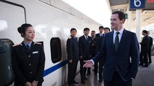 Chancellor George Osborne in China