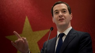 Chancellor George Osborne in the Chinese city of Chengdu