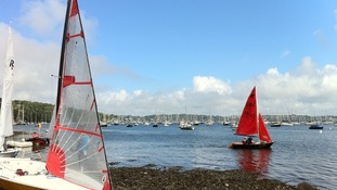 Dinghys at Falmouth Week