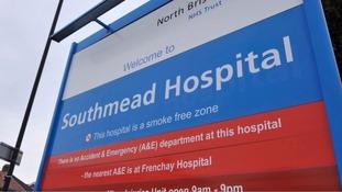 Southmead hospital sign