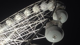 The wheel will be lit up at night