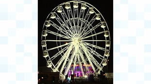 The giant ferris wheel is part of Leicester's Christmas and Diwali celebrations