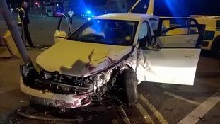 Six men escape crash with minor injuries