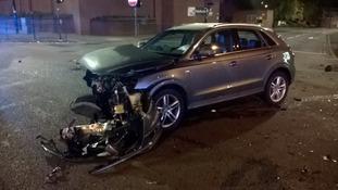 Car crash in Selly Oak