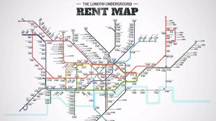Map shows London rents by tube station