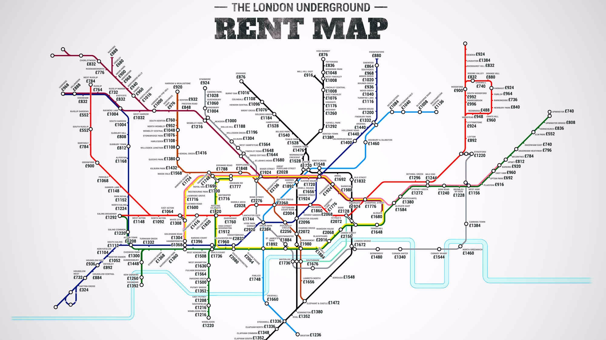 Map shows London rents by tube station   London - ITV News