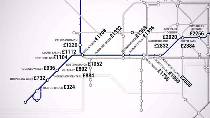 Map shows London rents by tube station  London  ITV News