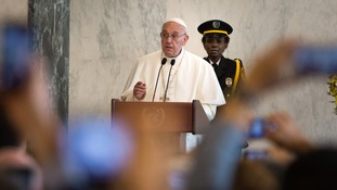 The Pope addressing the UN