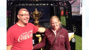 Webb Ellis Cup photo opportunity
