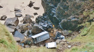 Fly tipping at Liberty Zawn Pendeen