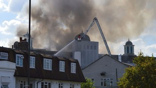 Huge fire breaks out at 'largest mosque in Europe'