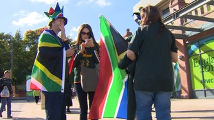 South Africa fans seems to have brought the southern hemisphere sunshine with them.