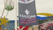The RWC fan zone has opened near St James' Park, Newcastle.