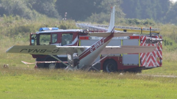 Crashed Cessna at Shoreham 