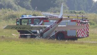 Crashed Cessna at Shoreham