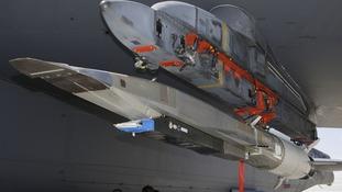 An X-51A WaveRider hypersonic flight test vehicle