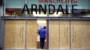Boarded up Manchester Arndale