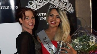 Jai Darra Latto with Rachel Bailey, the organiser of Miss Transgender UUK