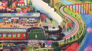 First paintings of the Borders Railway go on display at Selkirk