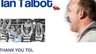 The Hornets' website carried a banner saying 'Thank You Tol'.