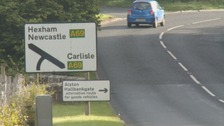 The A69 could be made a dual carriageway.
