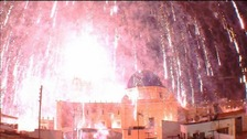 A rogue firework accidentally set off thousands of others in a Spanish church bell tower