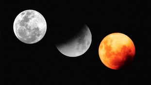 A composite photo of the total lunar eclipse of Monday 28th September 2015