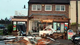 Aftermath of Roydon ram raid.