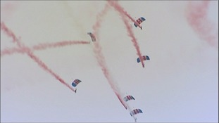 Aerial displays at RAF Waddington airshow