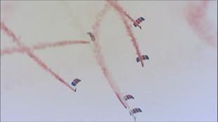 Aerial displays at RAF Waddington airshow