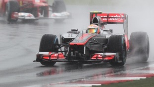 Vodafone's Lewis Hamilton at the 2012 British Grand Prix