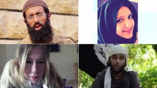 (L-R) clockwise: Omar Hussain, Aqsa Mahmood, Sally-Anne Jones and Nasser Muthana.