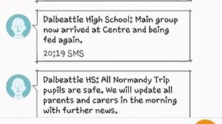 Dalbeattie High School bus crash text messages.
