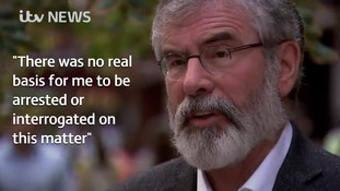 Gerry Adams tells ITV News there was 'no basis' for his arrest over Jean McConville IRA murder