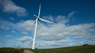 A wind farm at another location in Scotland.