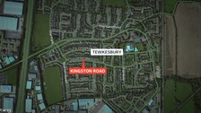 Map of Tewkesbury